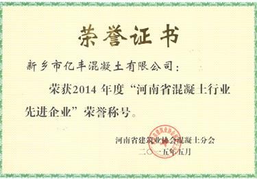 2015河南省雷竞技最新版行业先进企